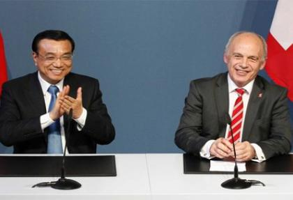 İsviçre ve Çin arasında serbest ticaret anlaşması
