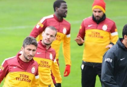 Galatasaraylı yıldız idmanda korkuttu