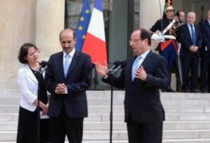 Suriyeli muhalifler Hollande ile görüştü