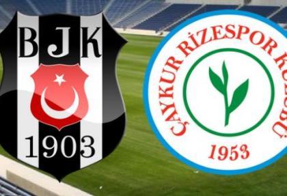 Beşiktaş - Çaykur Rizespor maç sonucu, golleri ve özeti
