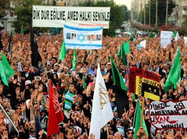 Diyarbakır'lıların Mısır'a anlamlı destek mitingi