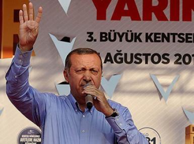 Erdoğan'ın ''Rabia işareti'' yaptığı konuşması Arap basınında
