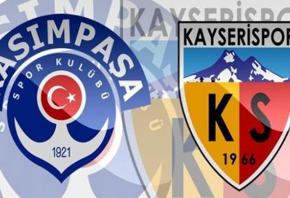 Kasımpaşa Kayserispor maçında üçüncü gol
