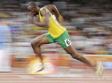Usain Bolt 200 metrede finalde