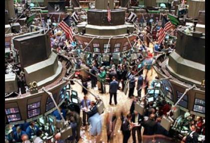 Wall Street'te sert düşüş