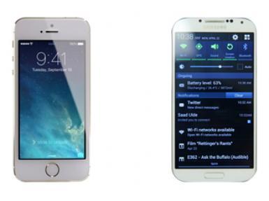 iPhone 5S ile Samsung Galaxy S4 arasındaki farklar