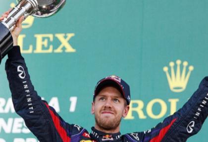 Japonya Grand Prix'inde zafer Vettel'in