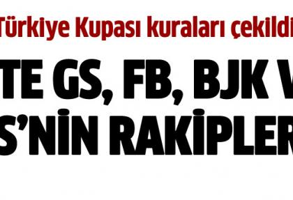 Ziraat Türkiye Kupası'nda 4. tur kuraları çekildi