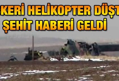 Ankara'da askeri helikopter düştü