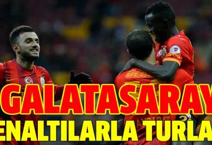 Galatasaray, Gaziantep B.B'yi penaltılarla geçti