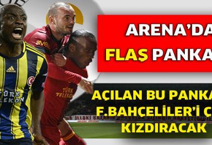 Galatasaray tribünlerinde sürpriz pankart
