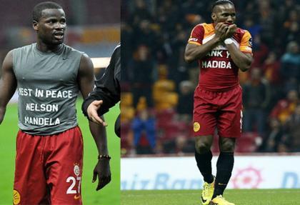 Galatasaray'da Eboue ve Drogba Mandela'yı unutmadı