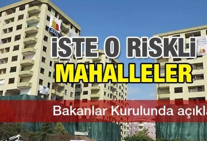 İstanbul'un bu üç mahallesi riskli