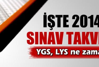ÖSYM 2014 sınav takvimi, 2014 sınav tarihleri, Sınavlar ne zaman?