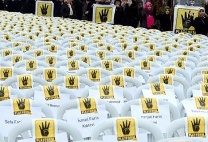Rabia Platformu'ndan sessiz eylem
