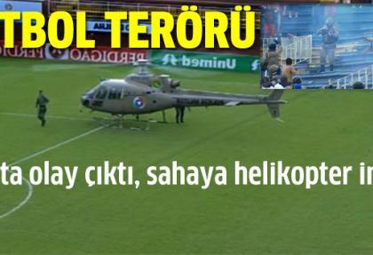 Saha karışınca, polis helikopterle müdahale etti