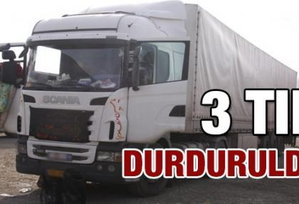 Adana'da 3 tırda jandarma araması