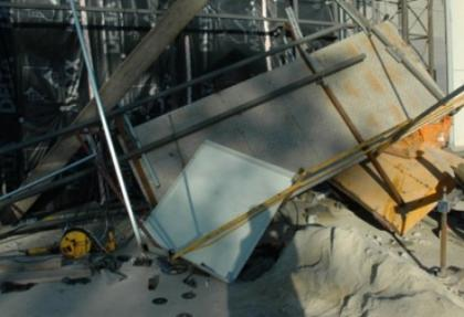 Kütahya'da inşaat iskelesi devrildi: 4 yaralı