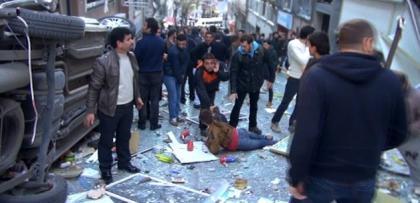 taksim'de kazanci yokusunda patlama