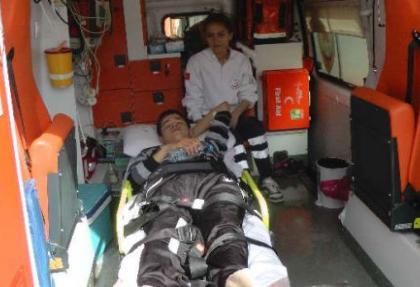 Ambulansla getirilen genç sınava alınmadı