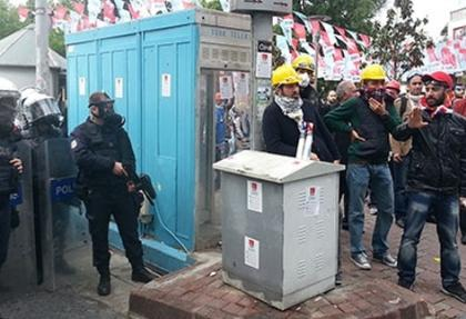 Beşiktaş'ta sabahtan itibaren polis müdahalesi var
