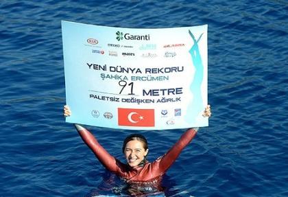Milli sporcu Ercümen'den yeni rekor