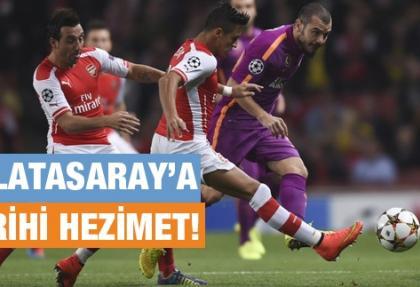 Galatasaray Arsenal karşısında hezimete uğradı