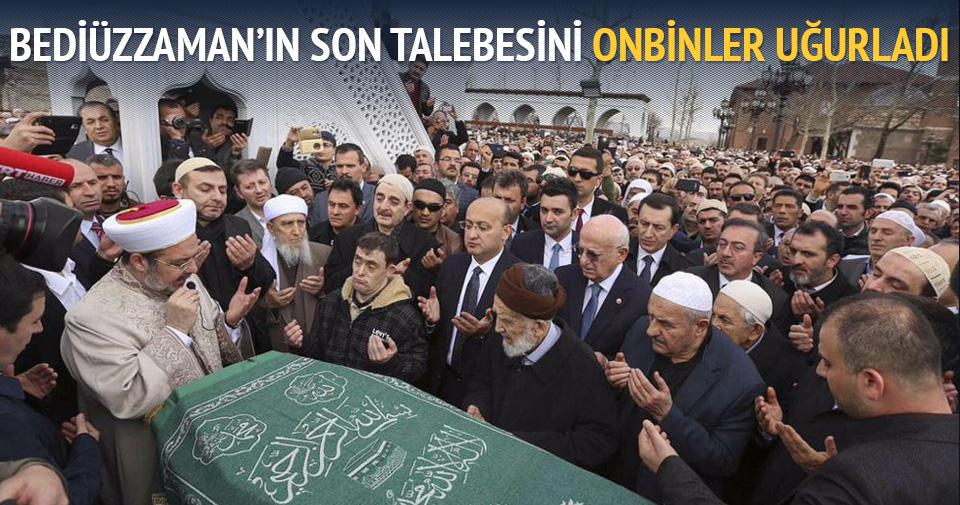 Bediüzzaman'nın talebesi Said Özdemir de ebediyete uğurlandı