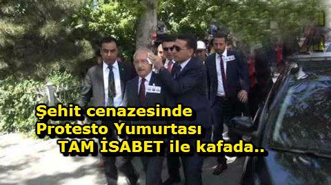 Kılıçdaroğlu'na yumurtalı protesto
