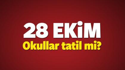 28 ekim cuma gunu yarin okullar tatil mi? (meb aciklamasi)