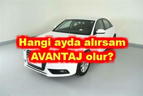 Araba satın almak hangi aylarda avantajlı olur?