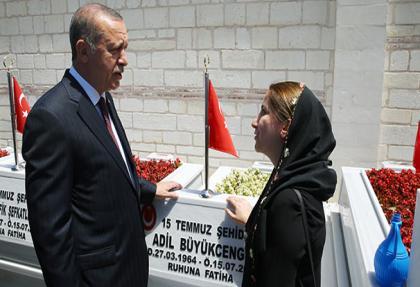 cumhurbaskani erdogan 15 temmuz sehitligi'nde