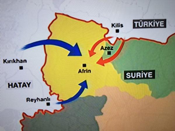 """Türkiye AFRİN'de: """"Yanımızda olmayan gölge etmesin"""""""
