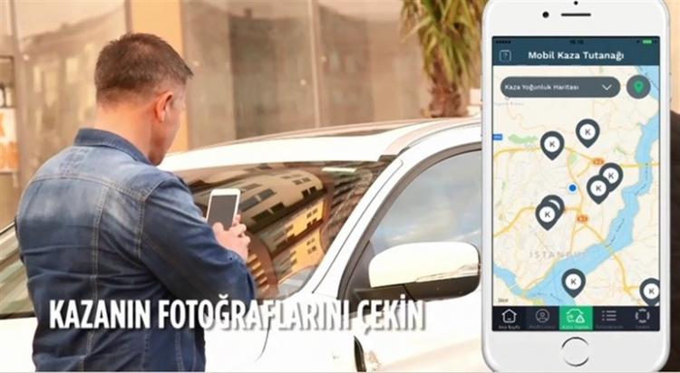 Kaza tespit tutanakları artık akıllı telefonlarda