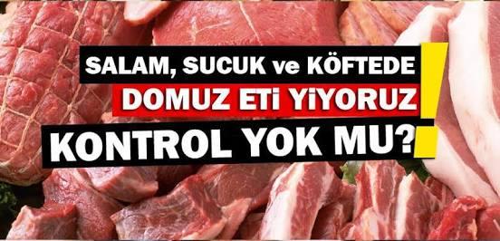 Kuru köftede domuz, sucukta at-eşek eti,yoğurtta jelatin...