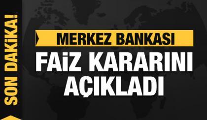 Merkez Bankası faiz kararını açıkladı-16 ocak