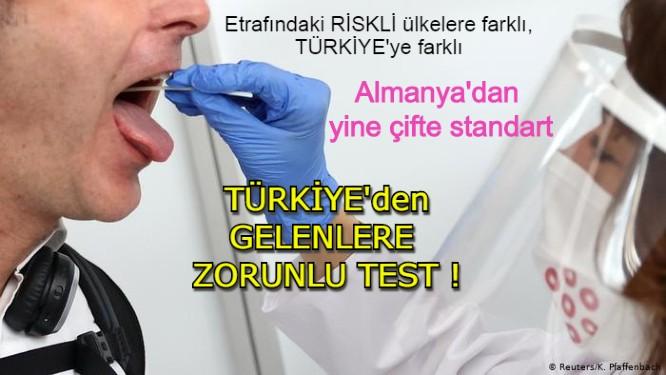 Almanya, Türkiye'den gelenlere zorunlu test uyulayacak