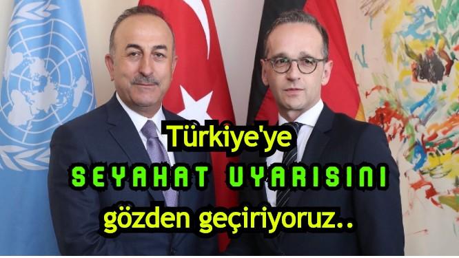 """Almanya Dışişleri Bakanı Heiko Maas: """"Türkiye'ye seyahat uyarısını gözden geçiriyoruz"""""""
