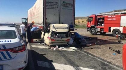 Ankara-Konya karayolunda feci kaza: 5 olu