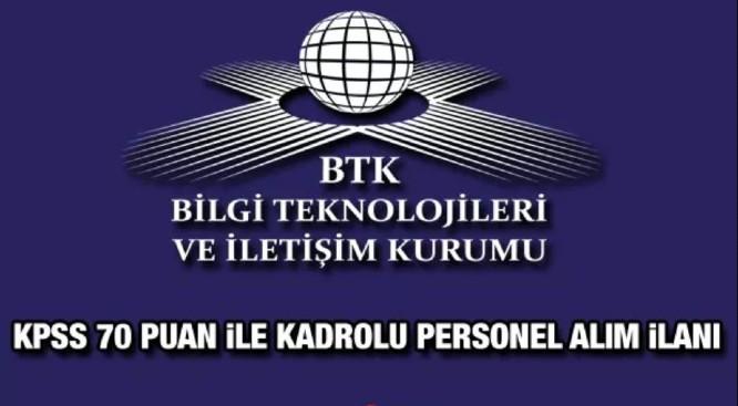 BTK 6 bin Lira maaşlı kadrolu personel alacak! İşte şartlar..