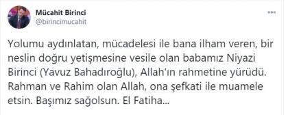 Son dakika: Yavuz Bahadiroglu hayatini kaybetti