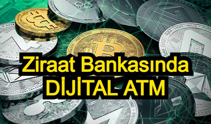 Ziraat Bankası, ATM'lerde dijital para testi yapıyor